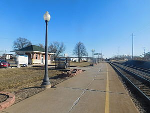 Quincy station (Amtrak) - The Quincy Amtrak station in February 2016.