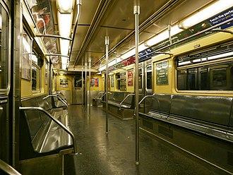 R32/A (New York City Subway car) - Image: R32 C train interior