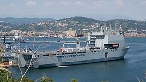 RFA Cardigan Bay (L3009) - RFA Cardigan Bay at La Spezia in 2009