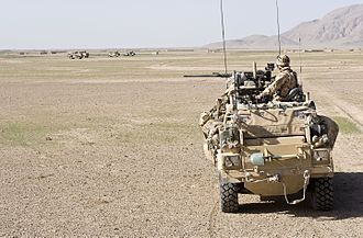 3 Commando Brigade - A Jackal armoured vehicle of 3 Commando Brigade, Royal Marines on patrol during Operation Fibonacci near Kuh-e Baba and Shin Ghar, Helmand, Afghanistan