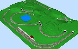 Rabbit warren layout - Image: Rabbit warren layout, 3D view