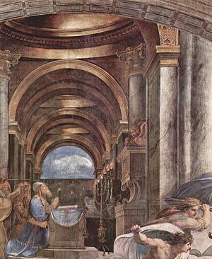 The Expulsion of Heliodorus from the Temple - Image: Raffael 095