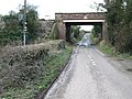 Railway bridge over the road to East Langdon - geograph.org.uk - 346728.jpg