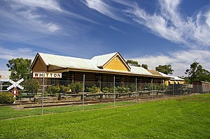 Whitton, New South Wales - Train station, now disused and relocated to the town museum