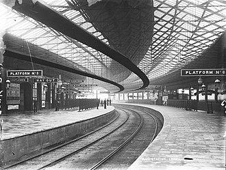 Cork Kent railway station - The station, ca. 1893.