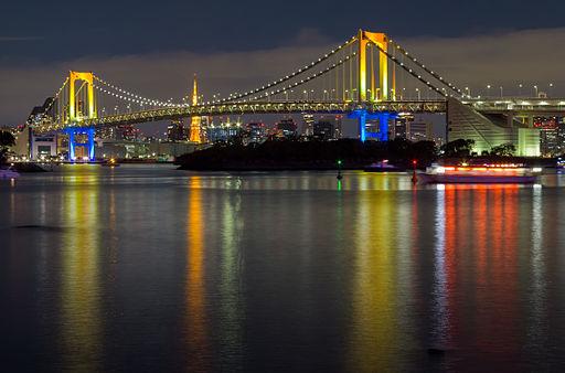 Rainbow Bridge (Tokyo) at night 4