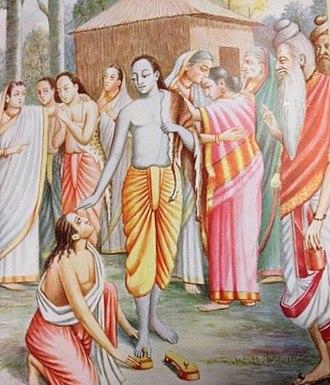 Bharata (Ramayana) - Bharata asks for Rama's paduka (footwear)
