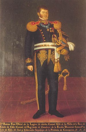 Pipiolos - Ramón Freire, hero of the Chilean War of Independence and head of state between 1823 and 1826 and again in 1827, was an icon of the Pipiolo movement