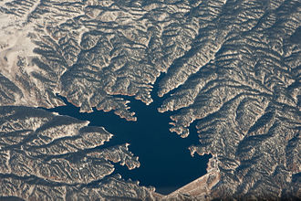 Rampart Reservoir - Aerial view