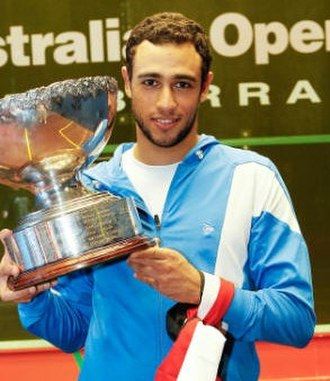 Ramy Ashour - Ramy Ashour with his 2011 Australian Open