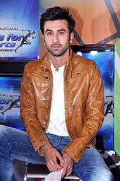 Ranbir Kapoor is looking at the camera