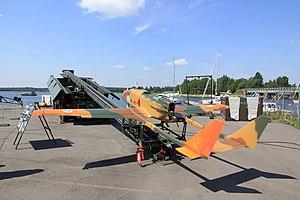 RUAG Ranger - Finnish army Ranger UAV and catapult vehicle on display in Ekenäs