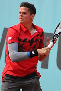 Milos Raonic al Mutua Madrid Open 2014