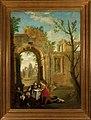 Rauniomaisema, Kristus ja neljä miestä, Painting by an Unknown Artist.jpg