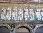 Ravenna, sant'apollinare nuovo, int., santi martiri offerenti, epoca del vescovo agnello, 03.JPG