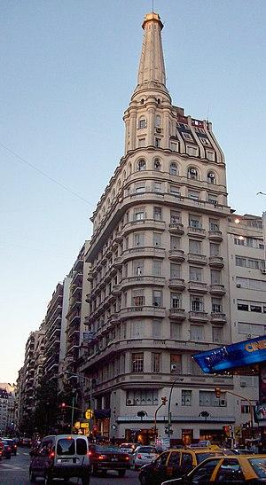 Barrio Norte, Buenos Aires - Corner of Callao and Santa Fe Avenues.