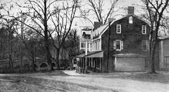 Red Lion, York County, Pennsylvania - Red Lion Tavern as it appeared in 1915