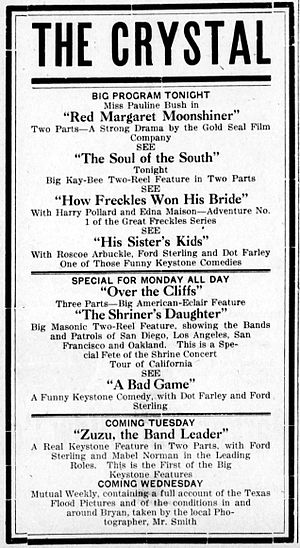 Red Margaret, Moonshiner - Newspaper advertisement for the film and several others.