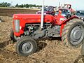 Red Massey Ferguson at the 55th British National Ploughing Championship, Soham, Ely, Cambridgeshire.jpg