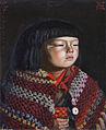 Reiko with a Woollen Shawl by Kishida Ryusei 1920 (Woodone Museum of Art).jpg