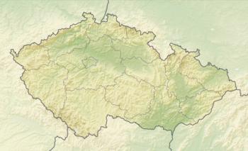 Les principaux lieux de tournage situés sur la carte de la République tchèque.