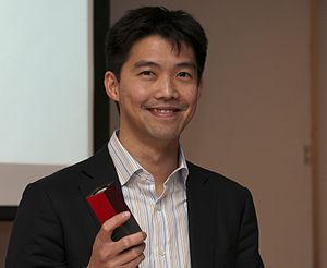 Lytro - Ren Ng, Lytro original CEO and founder, holding a Lytro camera.