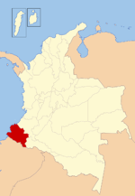 Location of Nariño