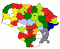 Results of Lithuanian councils of municipalities election, 2011.png