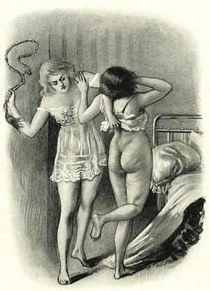 Spanking literature - Image of spanking from Le Rêve d'un flagellant