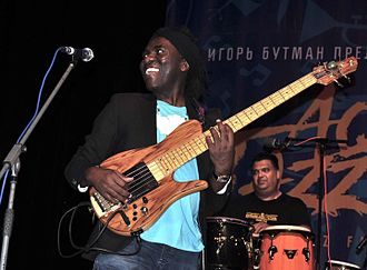 Richard Bona - Bona performing at Sochi Jazz Festival in Russia, August 2016