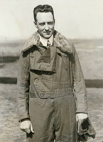 Richard E. Byrd - Richard Byrd in flight jacket, 1920s