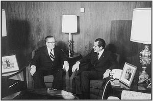 Frank Fitzsimmons - shown with Richard Nixon, 1973