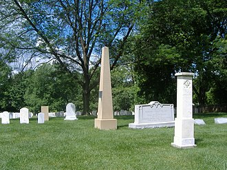 Richard Taylor (colonel) - Richard Taylor's grave at Zachary Taylor National Cemetery
