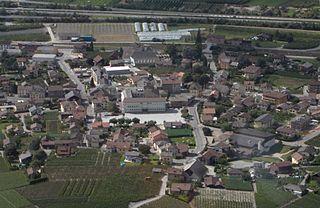 Riddes Place in Valais, Switzerland