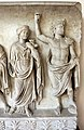 Rilievo di altare monumentale con processione sacrficale (personaggi della gens claudia), 42-43 dc, dalla zona di s. vitale-mausoleo di galla placidia 04.jpg