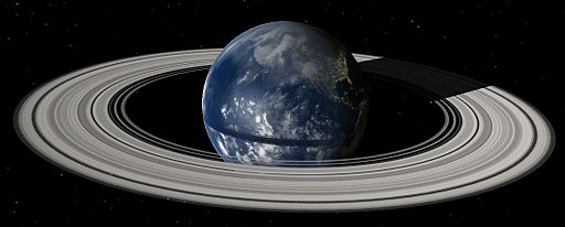 Rings of Earth, as simulated by Celestia with addon from Eugene Stauffer