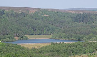 Rivelin Dams - The dams and their environment seen from Lodge Moor.