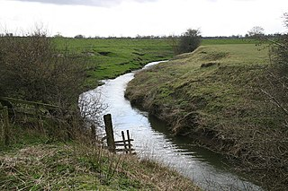 River Wiske river in Yorkshire, United Kingdom