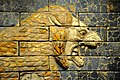 Roaring and striding lion from the Throne Room of Nebuchadnezzar II, 6th century BC, from ancient Babylon, Iraq. The British Museum.jpg