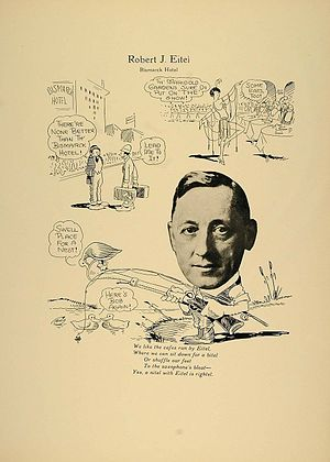 Eitel Brothers -  Robert Eitel, advertising postcard, 1923.