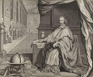 Bibliothèque Mazarine - Cardinal Mazarin in his Palace