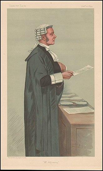 Robert Reid, 1st Earl Loreburn - Caricature by Spy in Vanity Fair, 1895