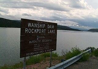 Rockport Reservoir reservoir in Summit County, Utah, USA