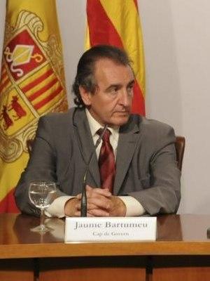 Jaume Bartumeu - Image: Roda de premsa consellera Mar Serna cap de Govern d'Andorra Jaume Bartumeu 01