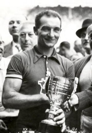 1937 Tour de France - Roger Lapébie being honoured for his general classification win in the 1937 Tour in Paris