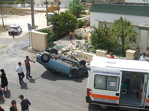 Rollover - A rollover in southern Italy