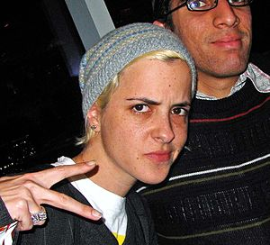 Samantha Ronson, DJ and rock singer. Taken in ...