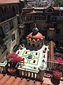Rooftop view of the central plaza Mission Inn, Riverside, CA.jpg