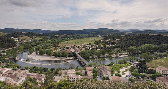 Roquebrun and Orb River, Europe, France