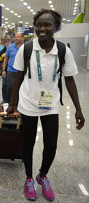 Refugee Olympic Team at the 2016 Summer Olympics - Rose Lokonyen arriving in Rio de Janeiro for the Olympic Games